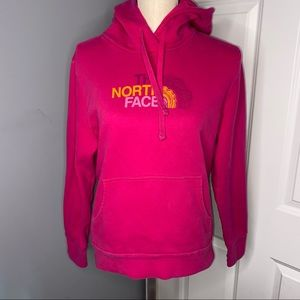 North Face Logo Pink Hoodie